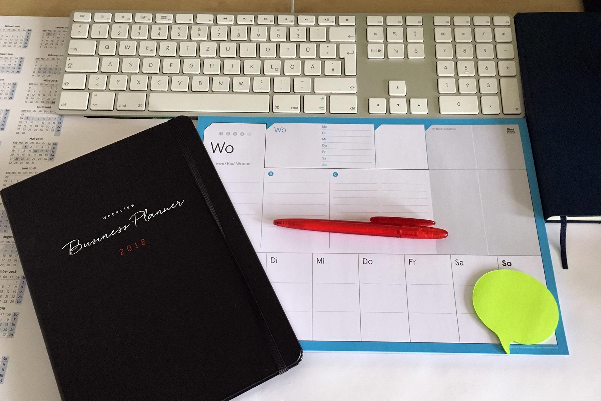 Fokus im Arbeitsalltag - Wochenplan und Kalender