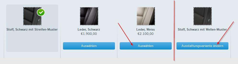 Innenausstattung: Mazda-Konfigurator