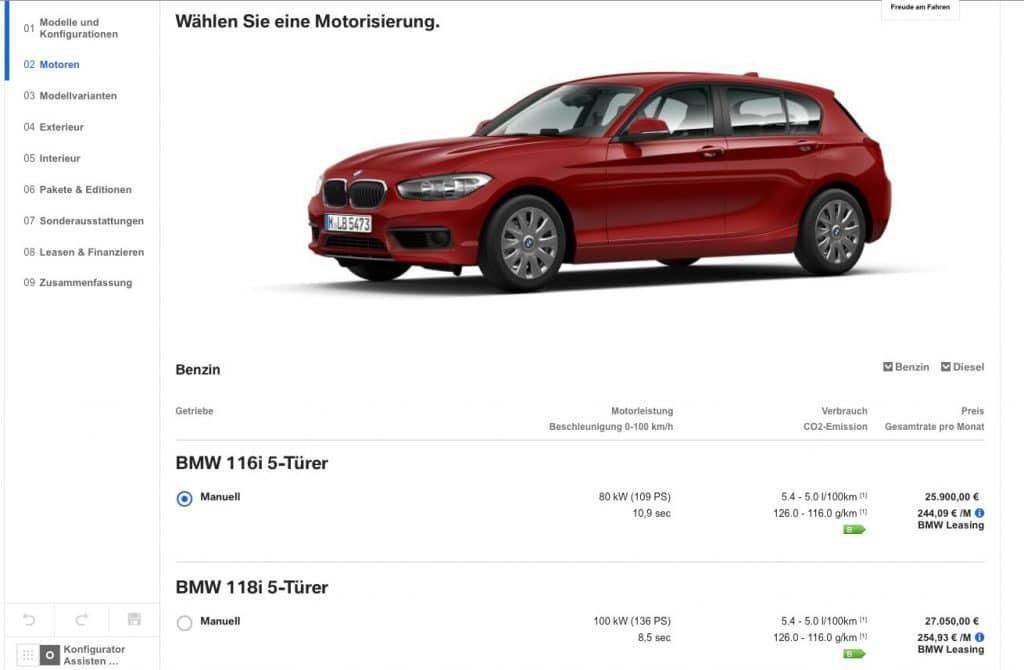BMW auswahl Motoren