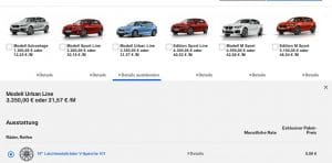 BMW Auswahl Modellvarianten