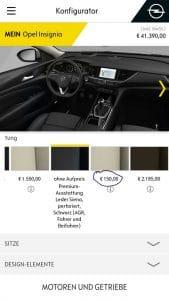 Opel Konfigurator: Aufpreis 150€