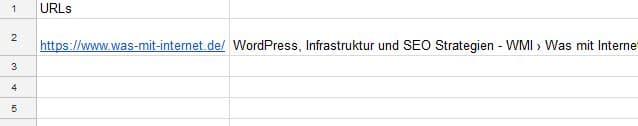 Importxml Title Beispiel