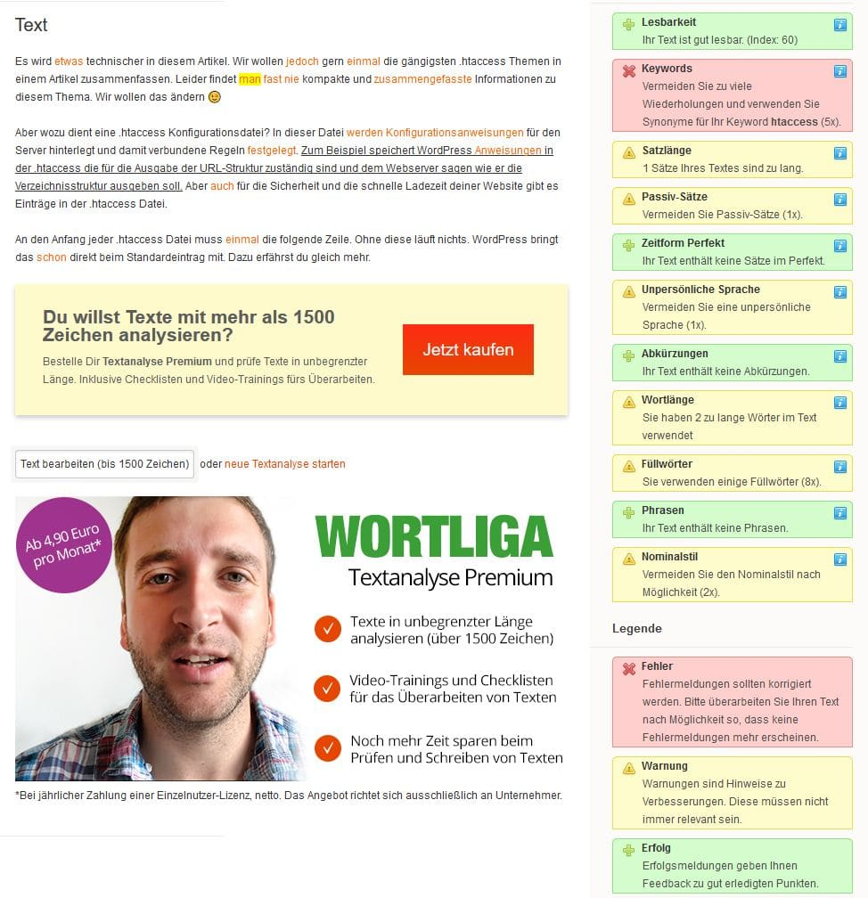 Wortliga Screenshot